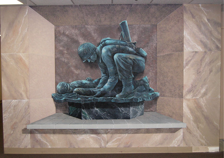 Tribute to the Army Medic: 3-D Mural